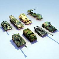 Artillery 8xSet 3DModels