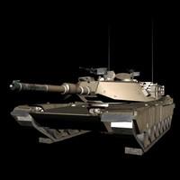 free max model abrams m1a1 tank