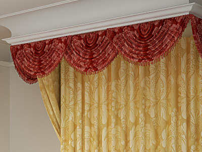 curtain classic 3d model - Curtain Classic... by aLDime_Art