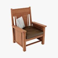 frank lloyd dana chairs 3d model