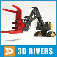 3dsmax feller buncher industrial vehicles