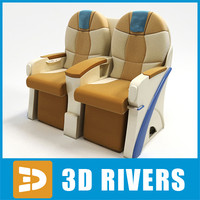 Business class seats by 3DRivers