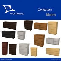 3d model malm furniture