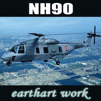 3d model european helicopter nh90