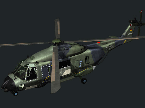 european helicopter nh90 3d model - NH90 helicopter (GER)... by Sanholy