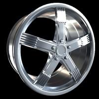 3d model of car rim