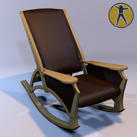 3ds max chair rocking art nouveau
