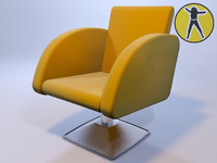 3d chair hair model