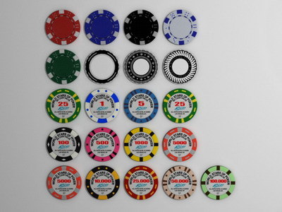 3ds max poker gambling chips - Gambling chips... by Behr Bros
