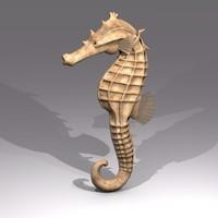 seahorse 3d model