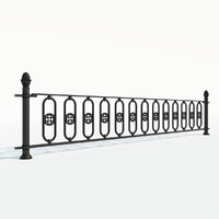 maya cast iron fence section