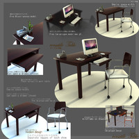 3d table versatile japanes style model