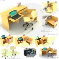 table versatile japanes style 3d max