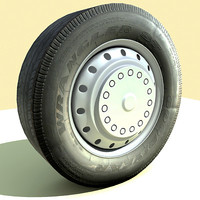 3d model wheel tyre bus