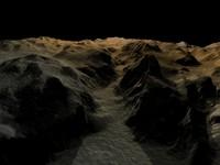 3d model canyon scene
