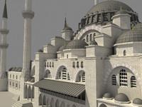 suleymaniye mosque 3d max