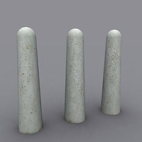 concrete bollard post 3ds