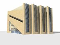 3d concept modern office model