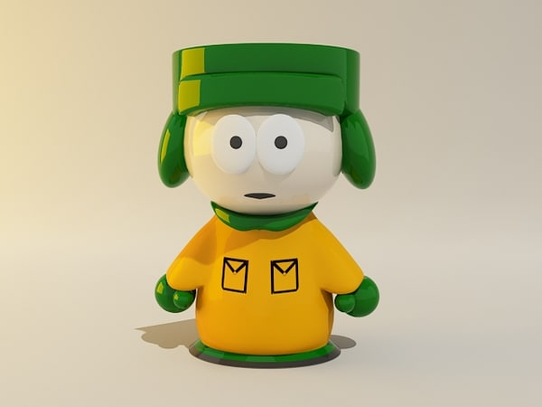 kyle south park 3d lwo - kyle south park... by 3d_addict
