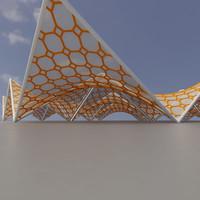 membrane structure super 07 3d model