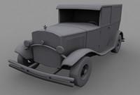 1930s cop car 3d model
