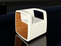 armchair rocking cube 3d 3ds