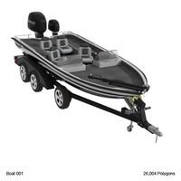 boat water 3d model