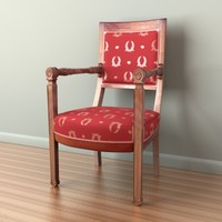 napoleon chair 3d obj
