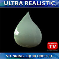 3d model liquid droplet
