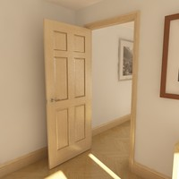 3d model of panel door solid