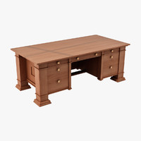 design table desk 3d dxf