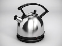 3d stainless steel kettle model