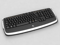 3d model logitech lx 710 keyboard