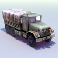 3d m35a2 army truck m35 model
