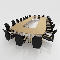 3d meeting conference room furniture model