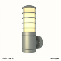 outdoor lighting fixture obj
