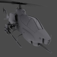 AH-1W Super Cobra Gunship Helicopter Game model