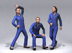 3d 30 people: sports people model - 3D People: 30 Still 3D Sport People Vol. 02... by proviz3d
