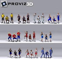 3D People: 30 Still 3D Sport People Vol. 02