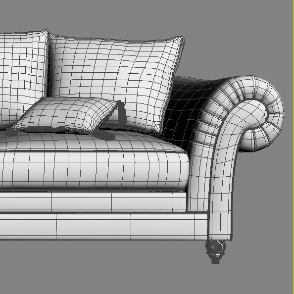 3d classic sofa model - Sofa classic... by iljujjkin
