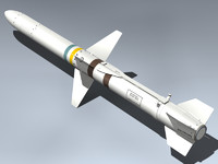 agm-45 shrike 3d max