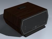 3d model alarm clock digital