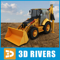 maya backhoe loader industrial vehicles