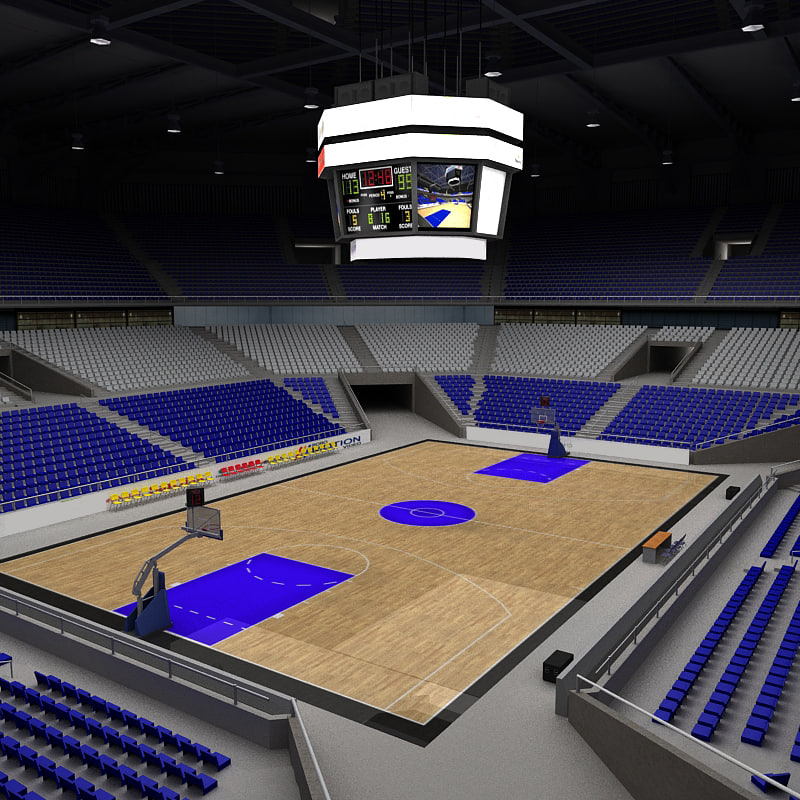 Stadium Lights C4d: 3ds Max Basketball Arena