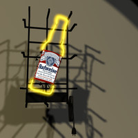 3d budweiser neon sign bud model