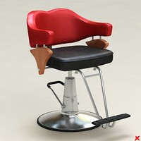 3d barber chair model