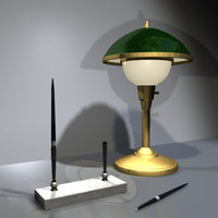 Desk Lamp and Pen Set 01