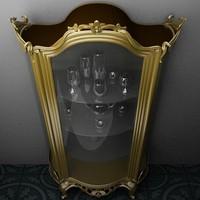 3d cupboard glass