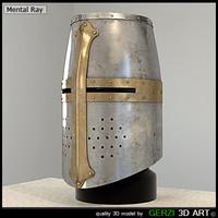 medieval great helm helmets 3d max