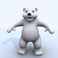 3d model cute polar bear